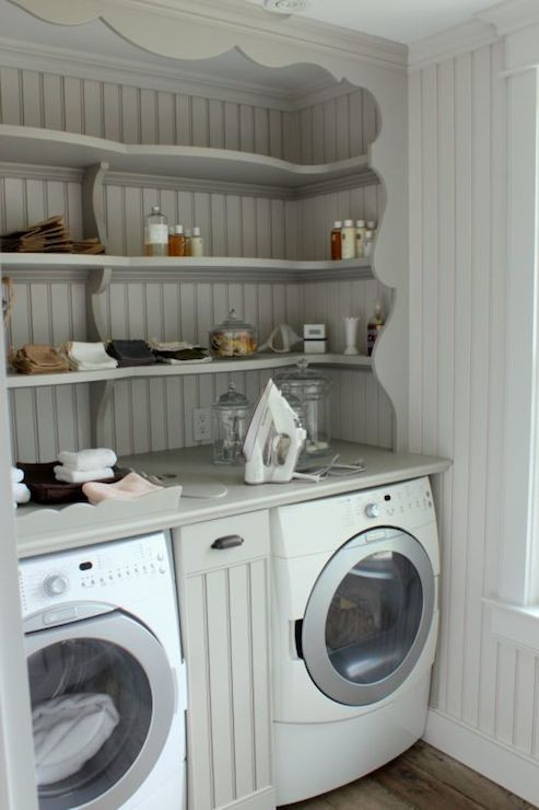 Best ideas about Laundry Room Shelf . Save or Pin Shelves over Washer and Dryer Vintage laundry room Now.