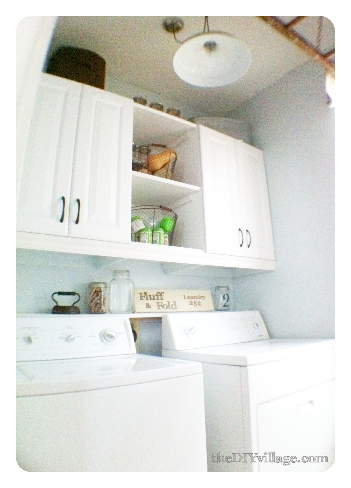 Best ideas about Laundry Room Shelf . Save or Pin Laundry Room Makeover the DIY village Now.