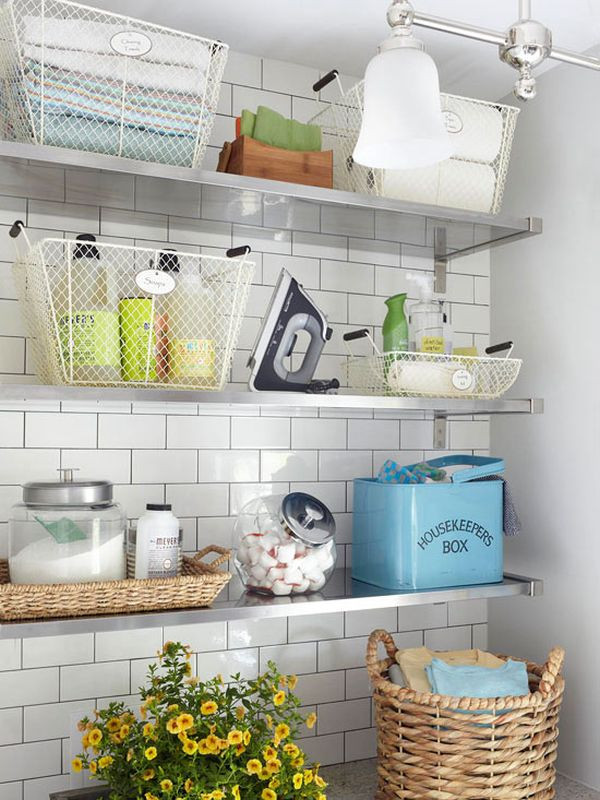 Best ideas about Laundry Room Shelf . Save or Pin Laundry Room Shelves Keep Everything Organized And Within Now.