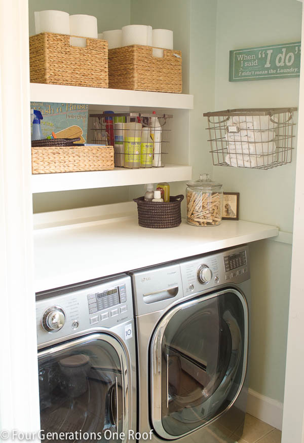 Best ideas about Laundry Room Shelf . Save or Pin 13 Life hacks to calm the craze in your laundry room Now.