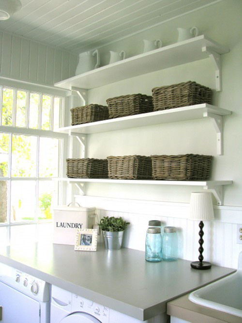 Best ideas about Laundry Room Shelf . Save or Pin Laundry Room Ideas Bud Friendly and Easy to Do Now.
