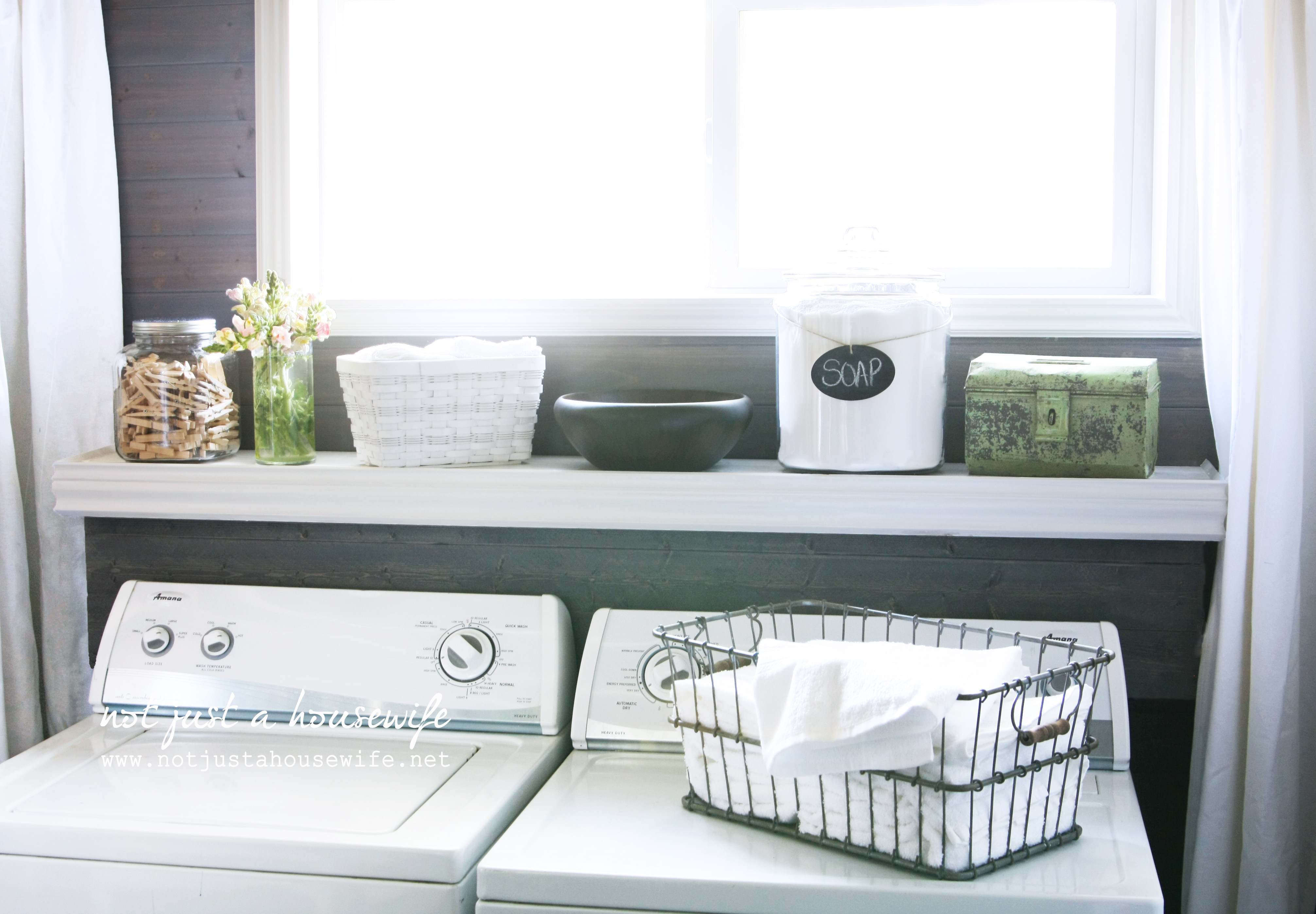 Best ideas about Laundry Room Shelf . Save or Pin Laundry Room Progress Now.