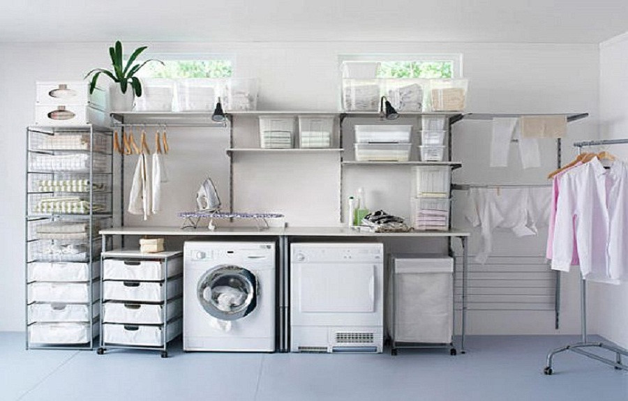 Best ideas about Laundry Room Storage Ideas . Save or Pin Clean Laundry Room Storage Design Ideas the laundry room Now.