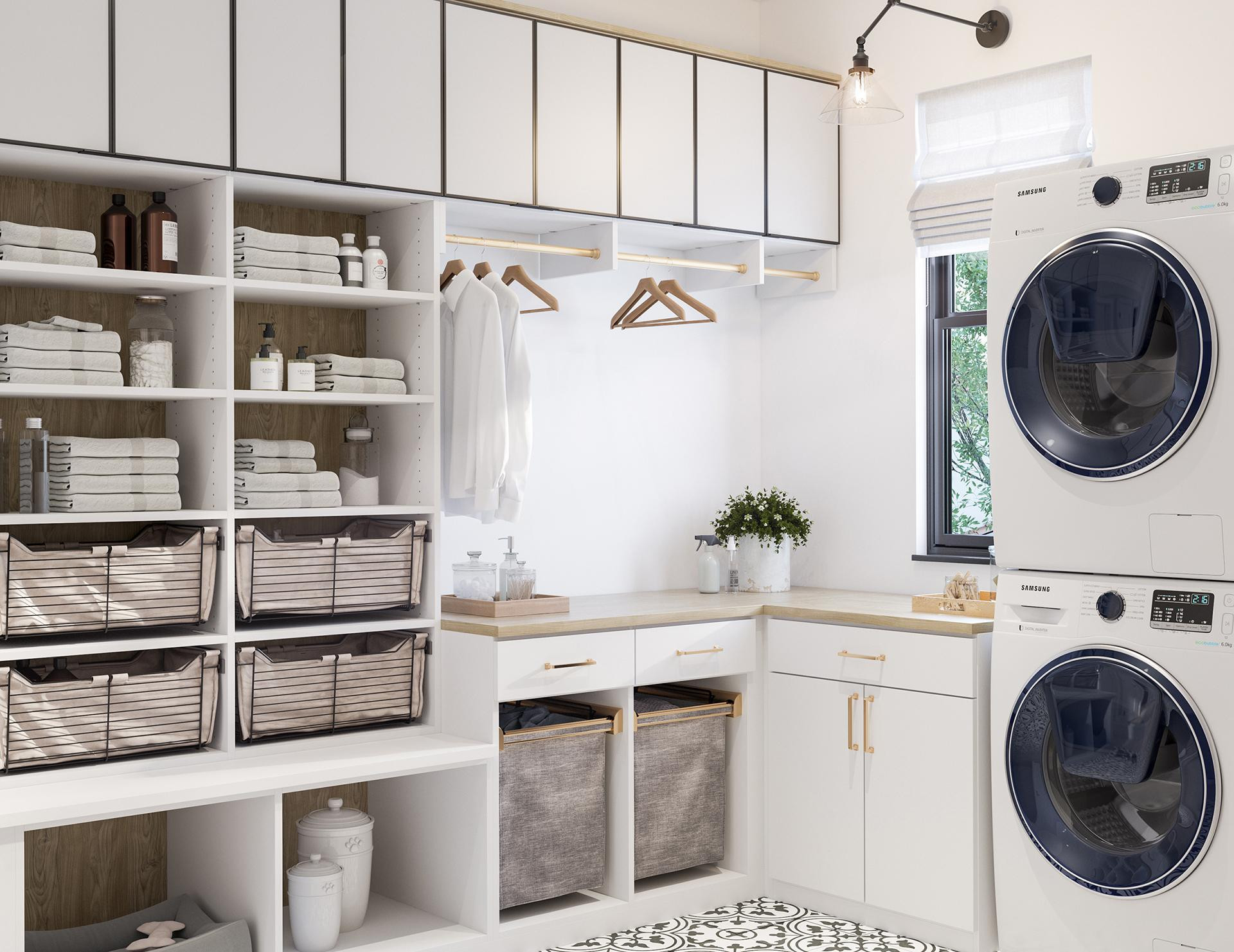 Best ideas about Laundry Room Storage Ideas . Save or Pin Laundry Room Cabinets & Storage Ideas by California Closets Now.