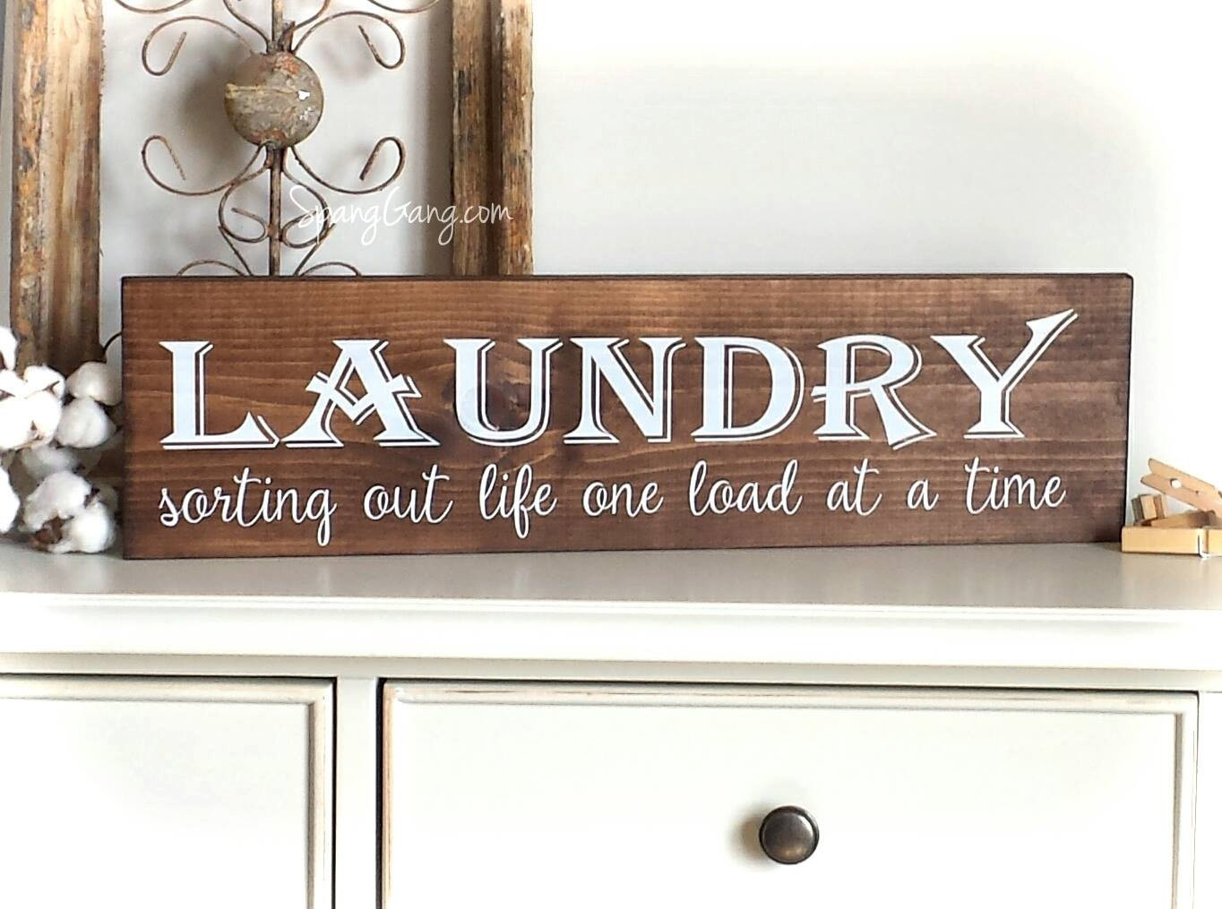 Best ideas about Laundry Room Wall Art . Save or Pin Laundry Room Decor Farmhouse Laundry Sign laundry room Now.
