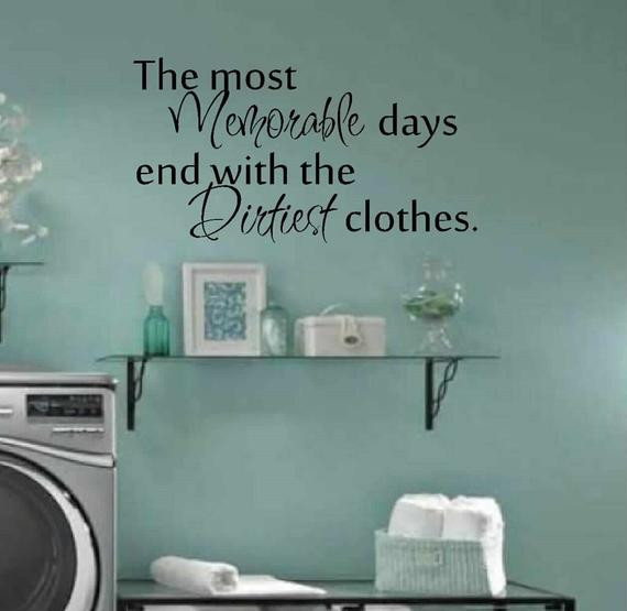Best ideas about Laundry Room Wall Art . Save or Pin Laundry room decor wall art matt vinyl decal laundry Now.