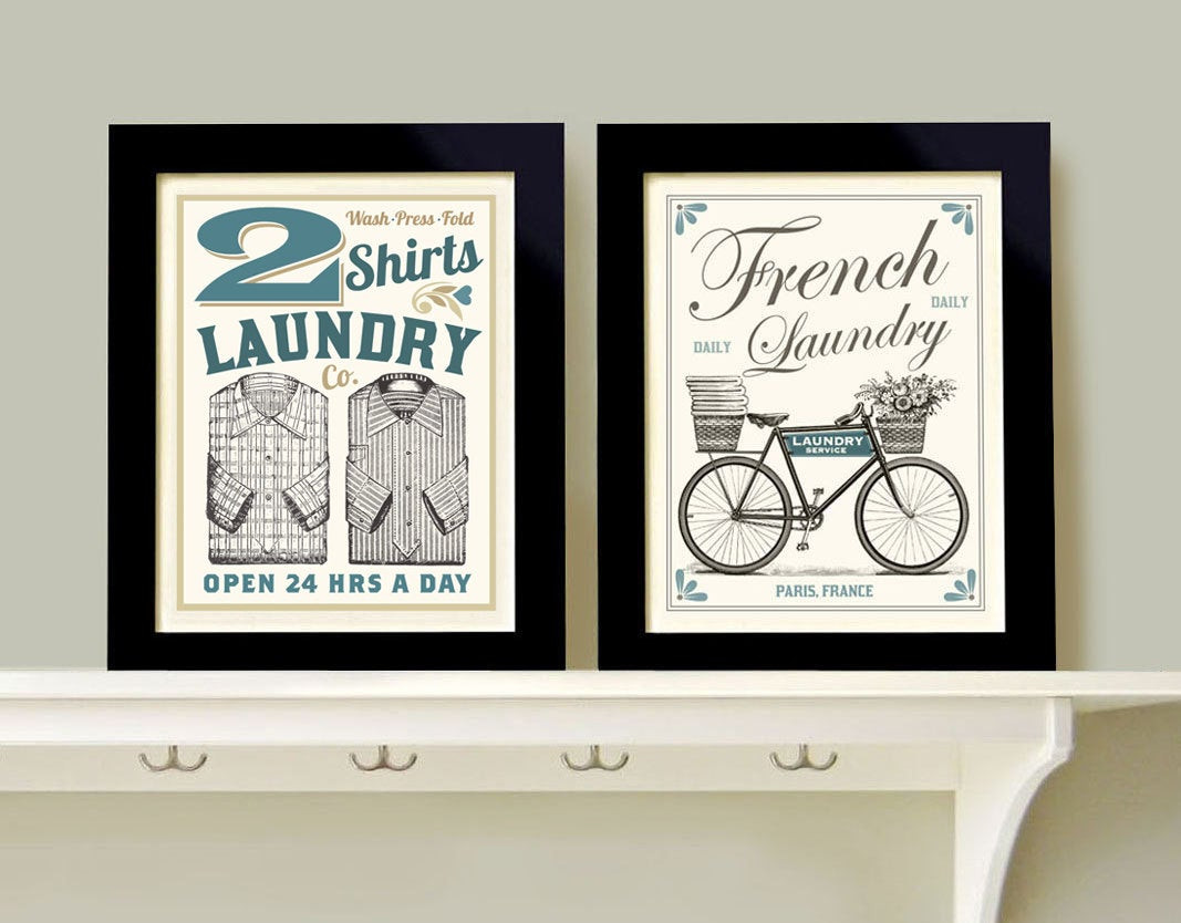 Best ideas about Laundry Room Wall Art . Save or Pin Laundry Room Decor Wall Art Print Grouping 2 prints French Now.