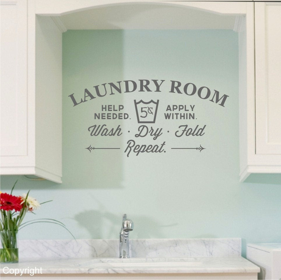 Best ideas about Laundry Room Wall Art . Save or Pin Laundry Room vinyl wall decal sticker large Now.