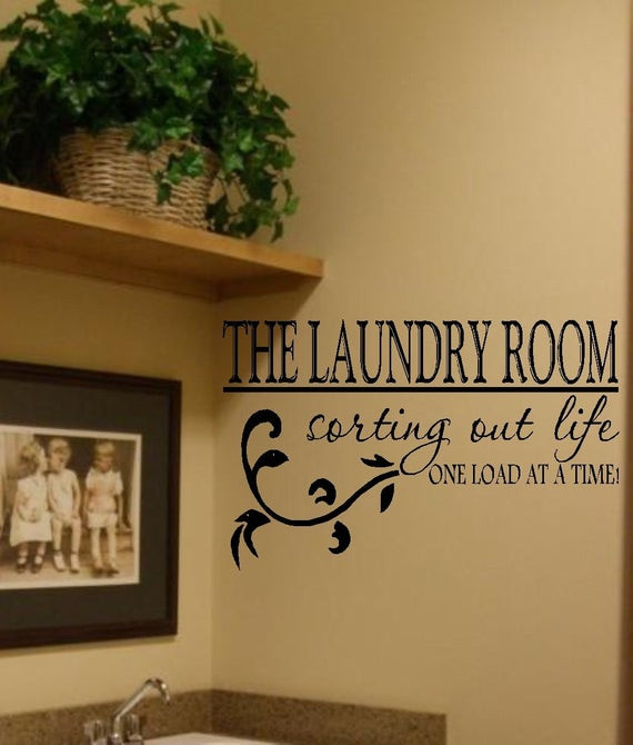 Best ideas about Laundry Room Wall Art . Save or Pin The Laundry Room Vinyl Wall Decal Decor Lettering Art Laundry Now.