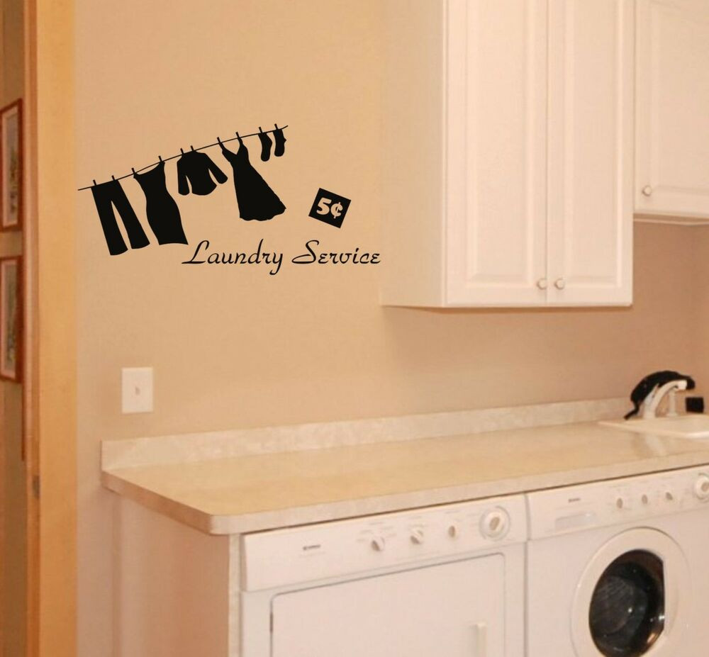 Best ideas about Laundry Room Wall Art . Save or Pin Laundry Room Wall Decal removable sticker service mural Now.