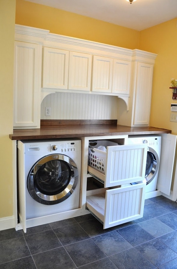 Best ideas about Laundry Storage Ideas . Save or Pin 40 Super Clever Laundry Room Storage Ideas Now.