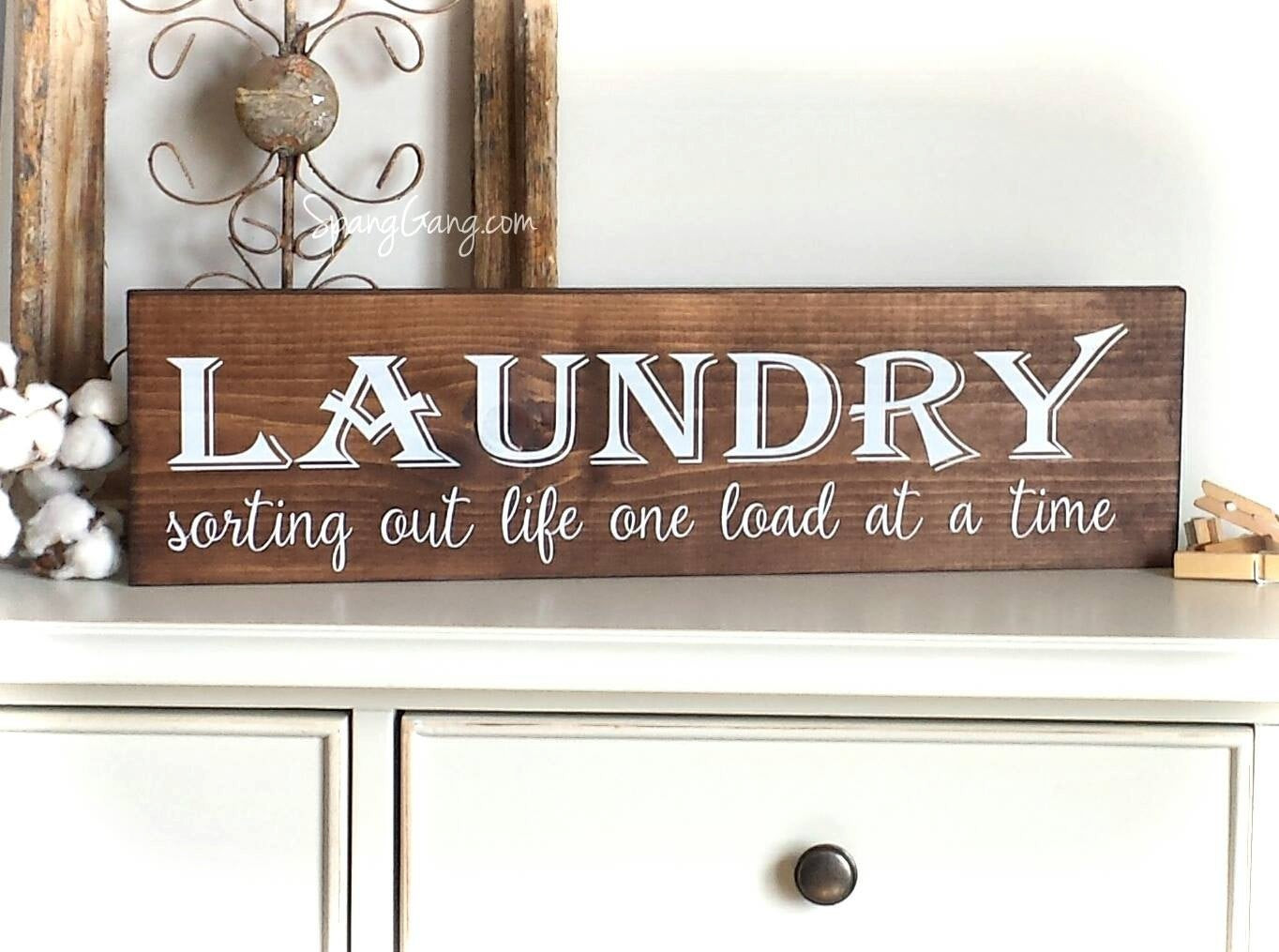 Best ideas about Laundry Wall Decor . Save or Pin Laundry Room Decor Farmhouse Laundry Sign laundry room Now.