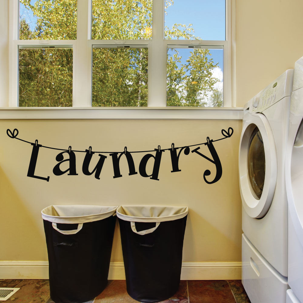 Best ideas about Laundry Wall Decor . Save or Pin Laundry Room Wall Decals Laundry Room Decals Laundry Now.