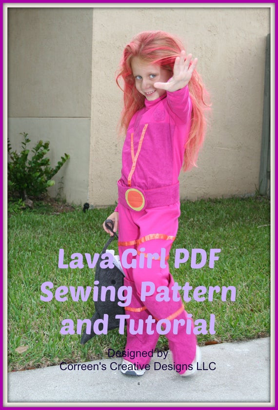 Best ideas about Lava Girl Costume DIY . Save or Pin Lava Girl Kids Costume Sewing Pattern Digital Download PDF Now.