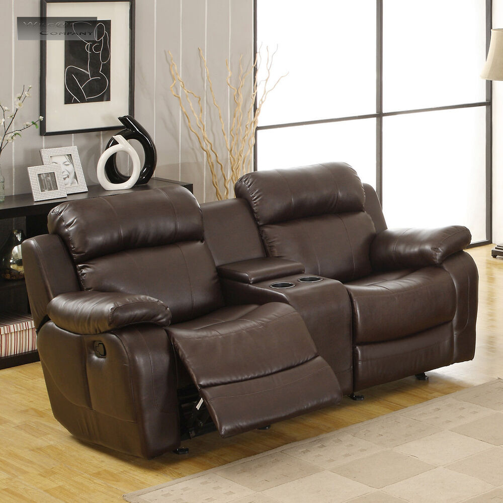 Best ideas about Lazy Boy Leather Reclining Sofa . Save or Pin Brown Leather Glider Recliner Loveseat Sofa Double Lazy Now.