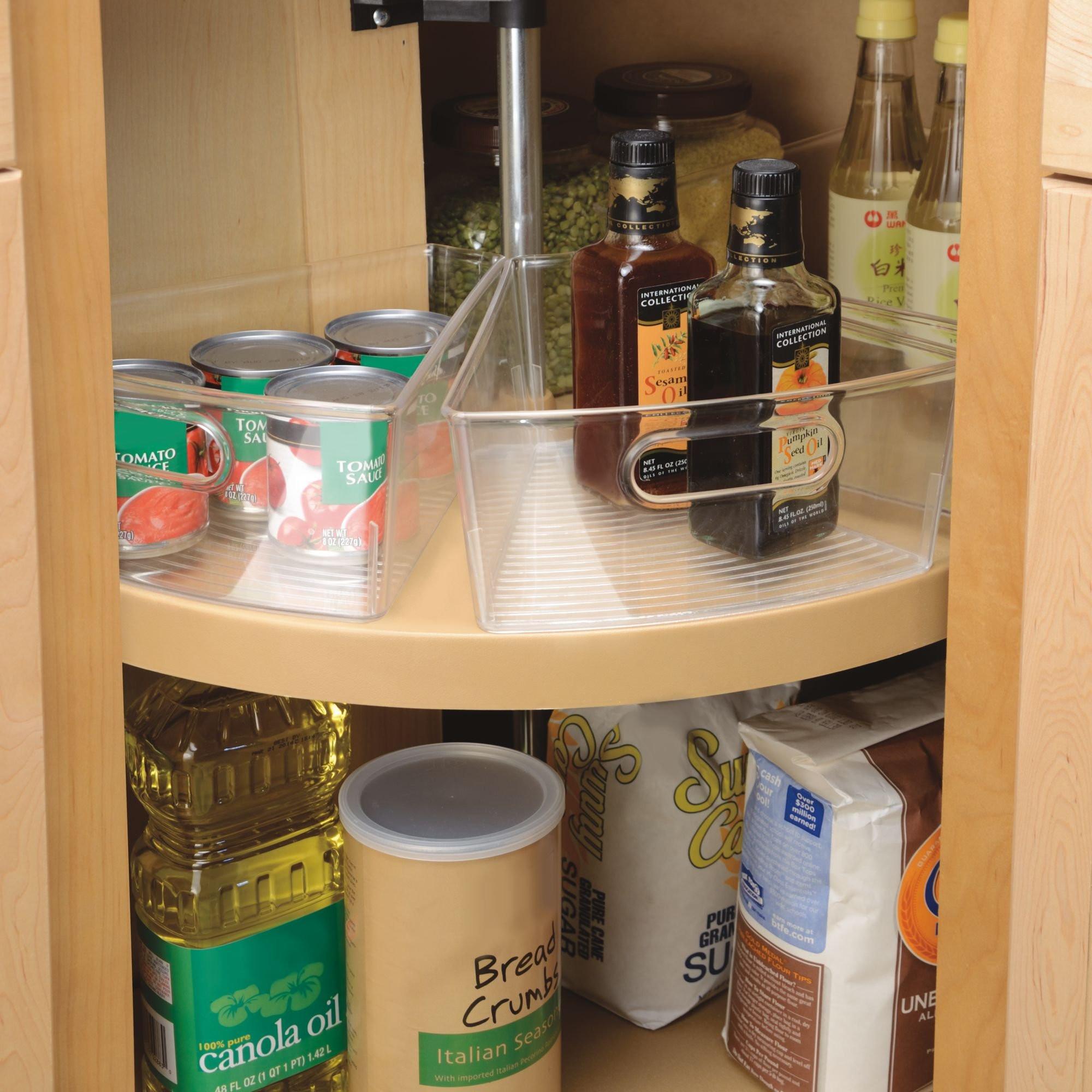 Best ideas about Lazy Susan Cabinet Organizer . Save or Pin mDesign Kitchen Cabinet Lazy Susan Storage Organizer Bin Now.