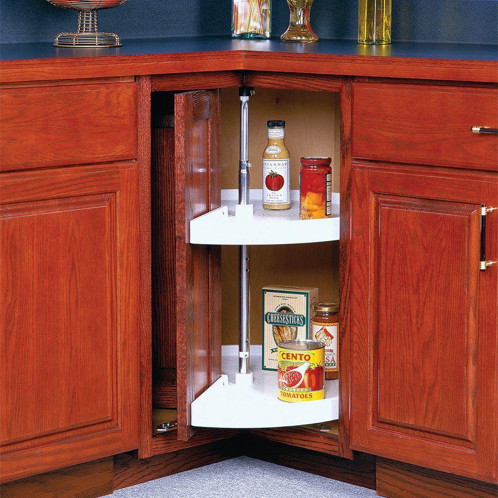 Best ideas about Lazy Susan Cabinet Organizer . Save or Pin Knape & Vogt 33 in H x 24 in W x 24 in D 2 Shelf Pie Now.