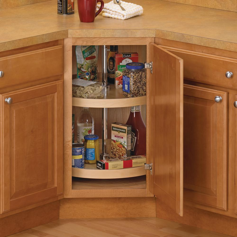 Best ideas about Lazy Susan Cabinet Organizer . Save or Pin Knape & Vogt 31 5 in x 32 in x 32 in Full Round Wood Now.