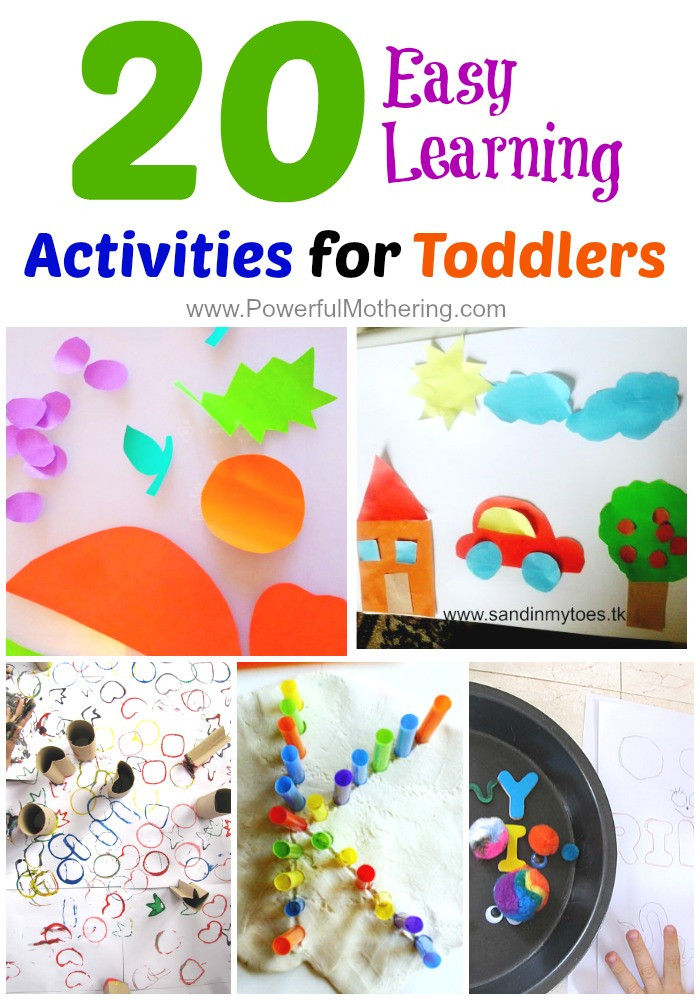 Best ideas about Learning Crafts For Toddlers . Save or Pin 20 Easy Learning Activities for Toddlers Now.