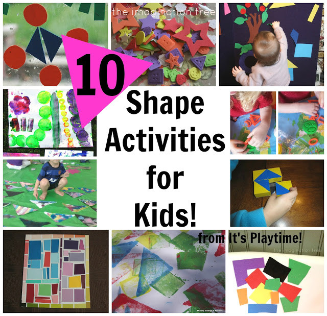 Best ideas about Learning Crafts For Toddlers . Save or Pin 10 Shape Learning Activities for Kids [It s Playtime Now.