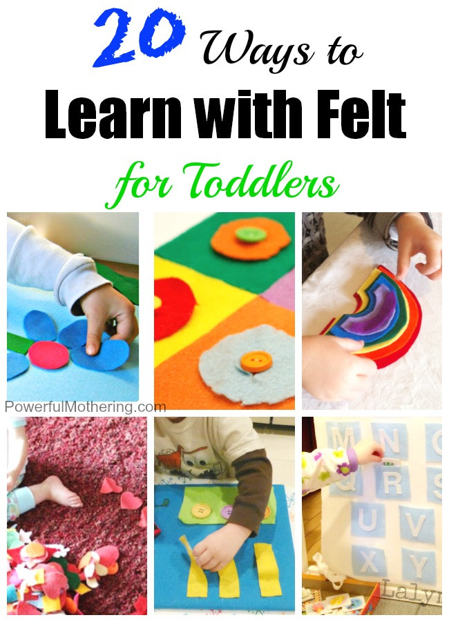 Best ideas about Learning Crafts For Toddlers . Save or Pin 20 Ways to Learn with Felt for Toddlers Now.