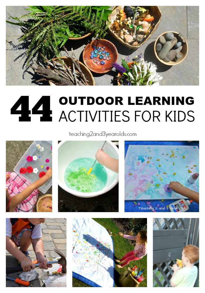 Best ideas about Learning Crafts For Toddlers . Save or Pin 44 Outdoor Learning Ideas for Preschoolers Now.