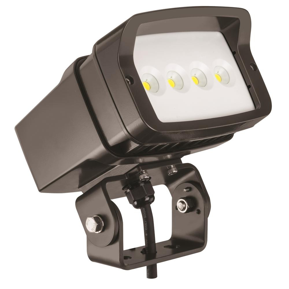 Best ideas about Led Outdoor Flood Lights . Save or Pin Lithonia Lighting Bronze Outdoor Integrated LED 5000K Now.
