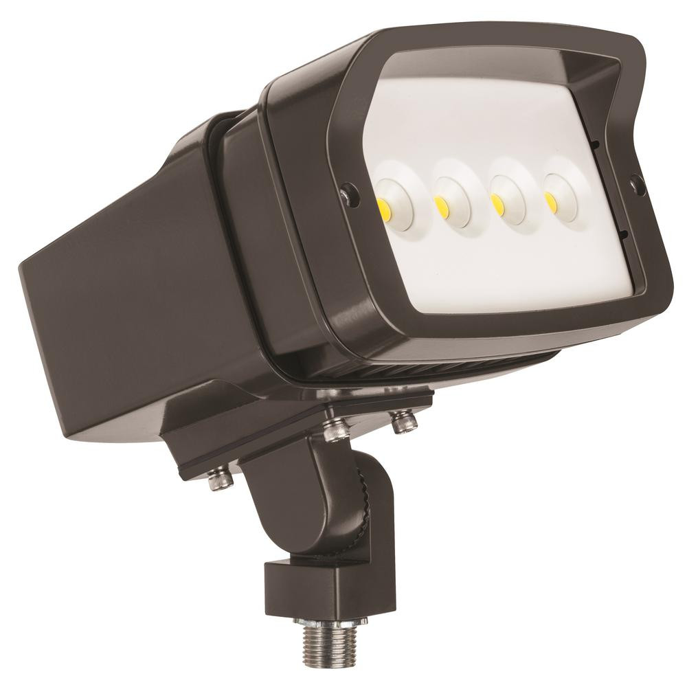 Best ideas about Led Outdoor Flood Lights . Save or Pin Lithonia Lighting OFL1 LED Bronze Outdoor 5000K Flood Now.