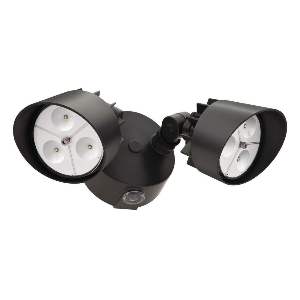 Best ideas about Led Outdoor Flood Lights . Save or Pin Lithonia Lighting Black Bronze Outdoor LED Wall Mount Now.