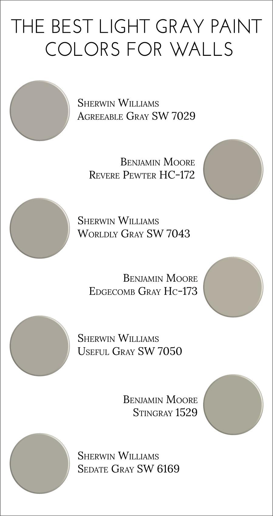 Best ideas about Light Grey Paint Colors . Save or Pin The Best Light Gray Paint Colors for Walls Jillian Lare Now.