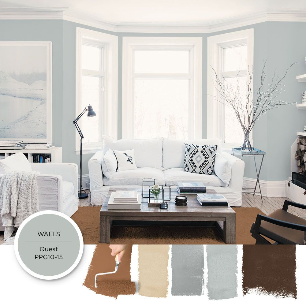 Best ideas about Light Grey Paint Colors . Save or Pin Light gray blue paint color Quest by PPG is featured in Now.