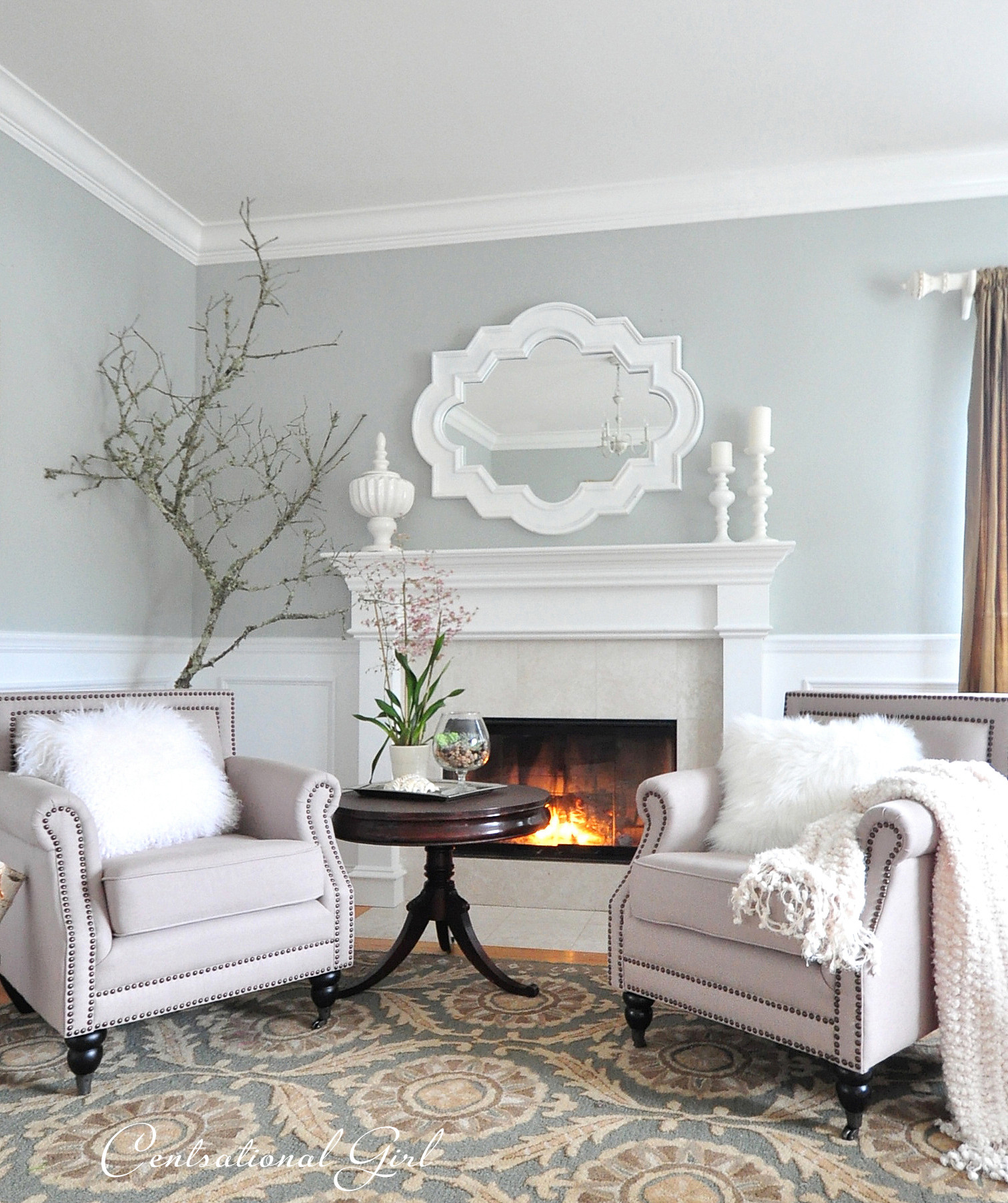 Best ideas about Light Grey Paint Colors . Save or Pin kates winter living room Now.