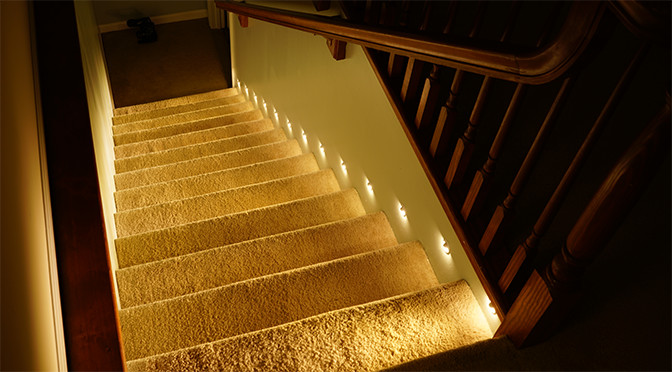 Best ideas about Lighting For Stair . Save or Pin How to Install Motion Sensor LED Stair Lights Super Now.