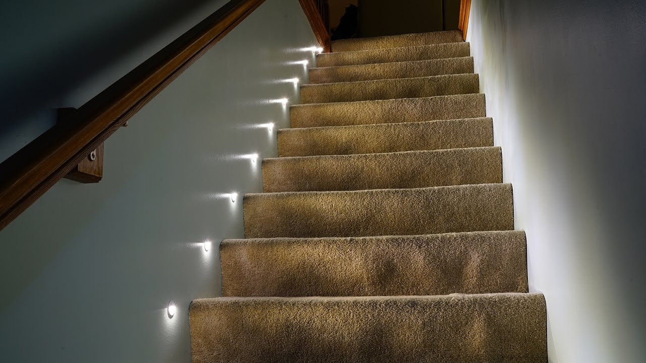 Best ideas about Lighting For Stair . Save or Pin LED stair lights Now.