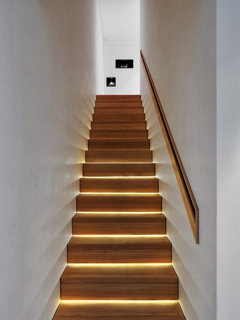 Best ideas about Lighting For Stair . Save or Pin Modern Lighting Ideas That Turn The Staircase Into A Now.