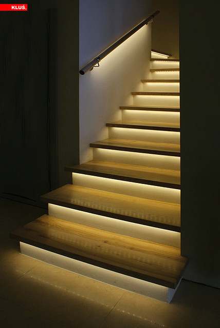 Best ideas about Lighting For Stair . Save or Pin LED Staircase Accent Lighting Contemporary Staircase Now.
