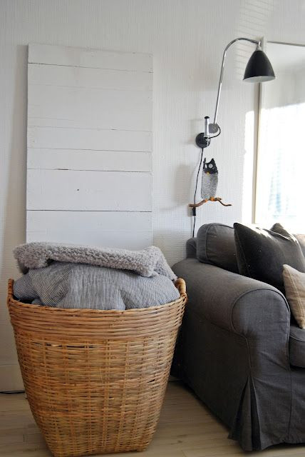 Best ideas about Living Room Blanket Storage Ideas . Save or Pin a large basket in the living room to store all cozy Now.