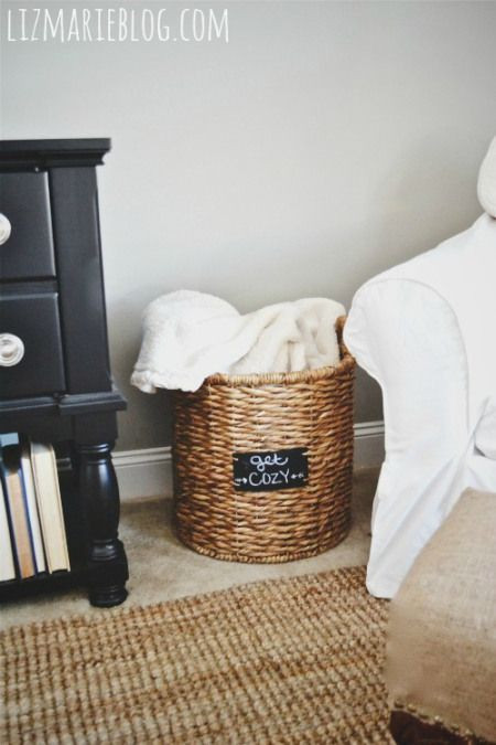 Best ideas about Living Room Blanket Storage Ideas . Save or Pin 17 Best ideas about Blanket Basket on Pinterest Now.