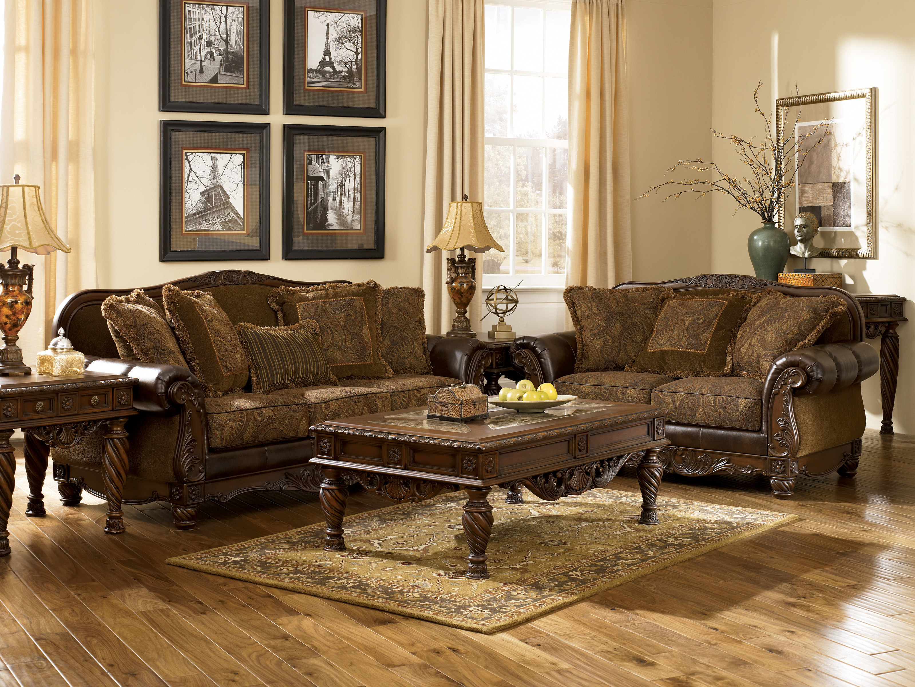 Best ideas about Living Room Couches . Save or Pin Ashley Furniture Fresco DuraBlend Antique Living Now.