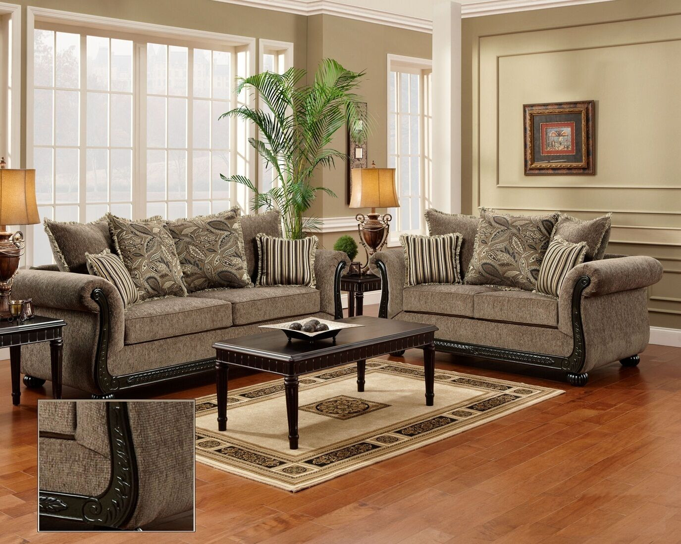 Best ideas about Living Room Couches . Save or Pin Dream Java Chenille Sofa & Love Seat Living Room Furniture Now.