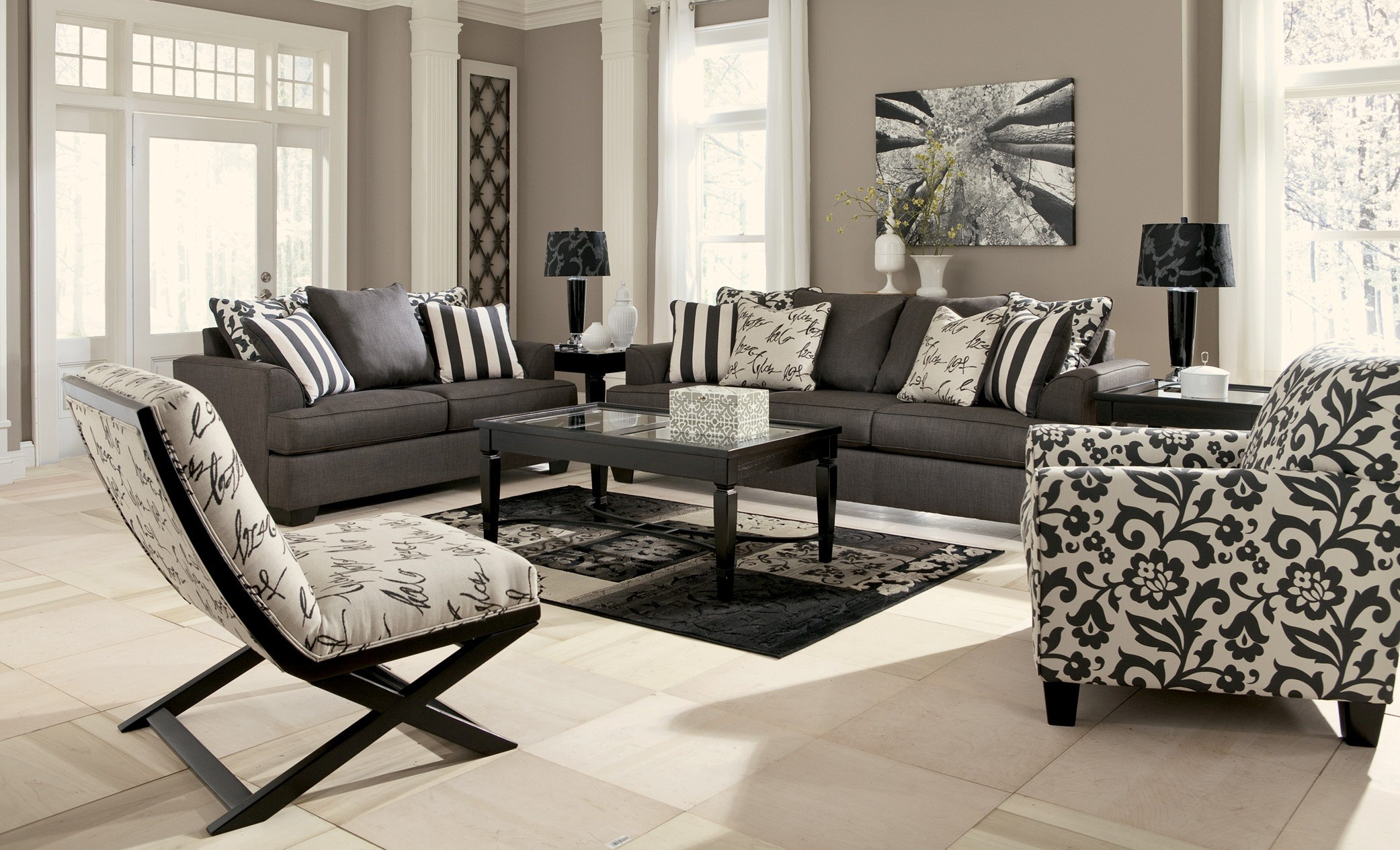 Best ideas about Living Room Couches . Save or Pin Levon Charcoal Living Room Set from Ashley Now.