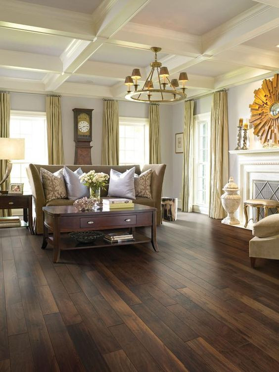 Best ideas about Living Room Flooring . Save or Pin 31 Hardwood Flooring Ideas With Pros And Cons DigsDigs Now.