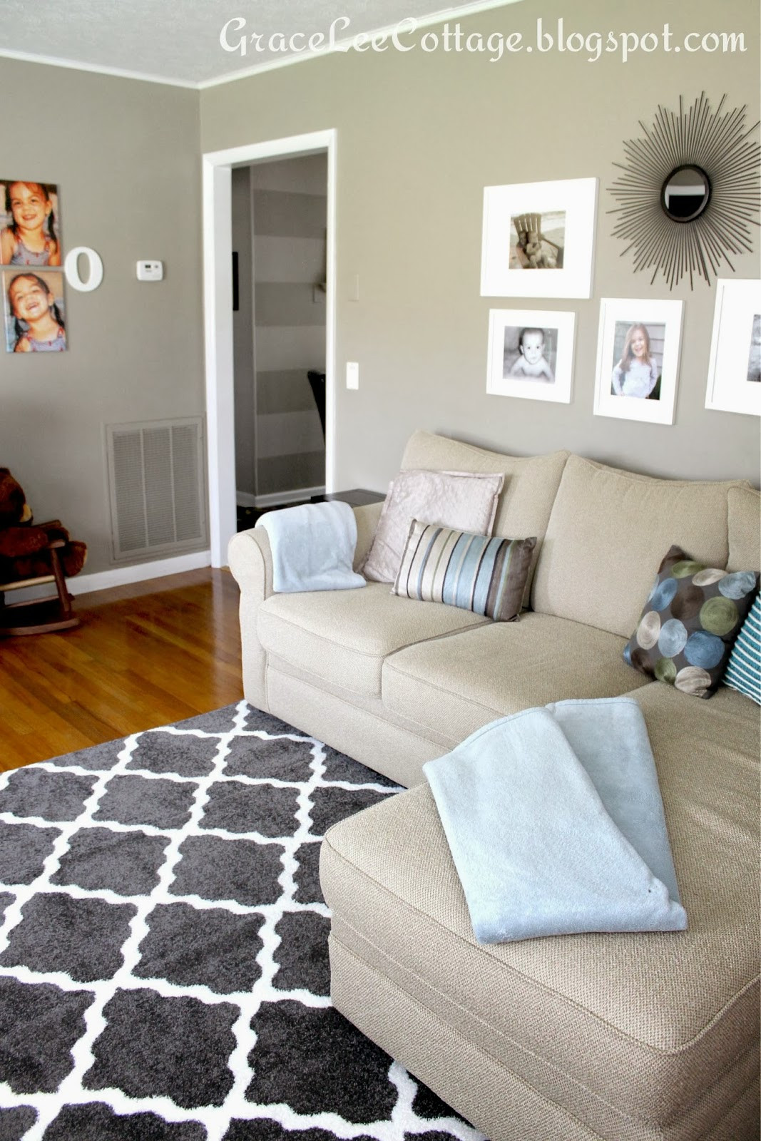 Best ideas about Living Room Rug Ideas . Save or Pin Grace Lee Cottage New living room rug Now.