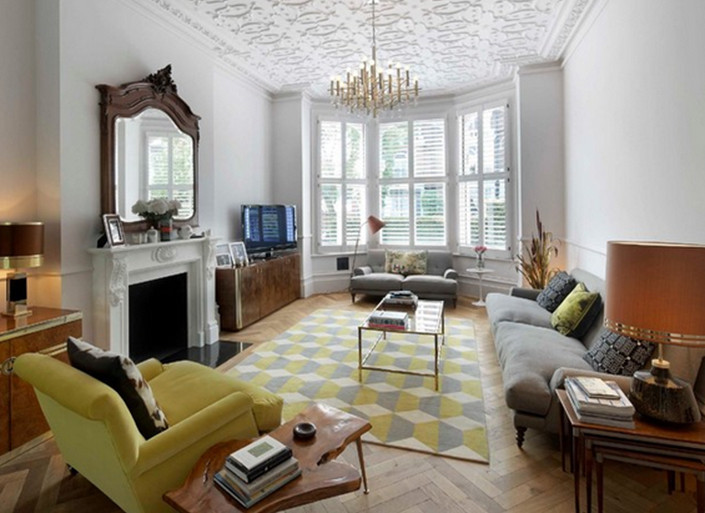 Best ideas about Living Room Rug Ideas . Save or Pin 7 Geometric Pattern Living Room Rugs Ideas Now.
