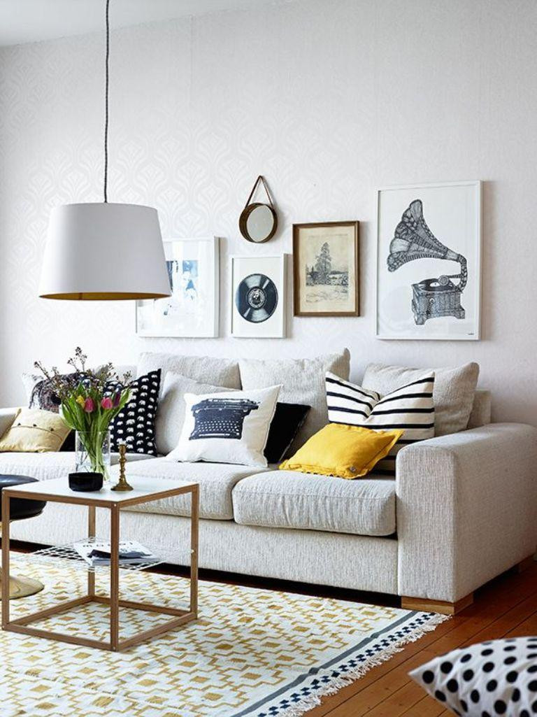 Best ideas about Living Room Wall . Save or Pin Gallery Wall In 30 Contemporary Living Room Designs Rilane Now.