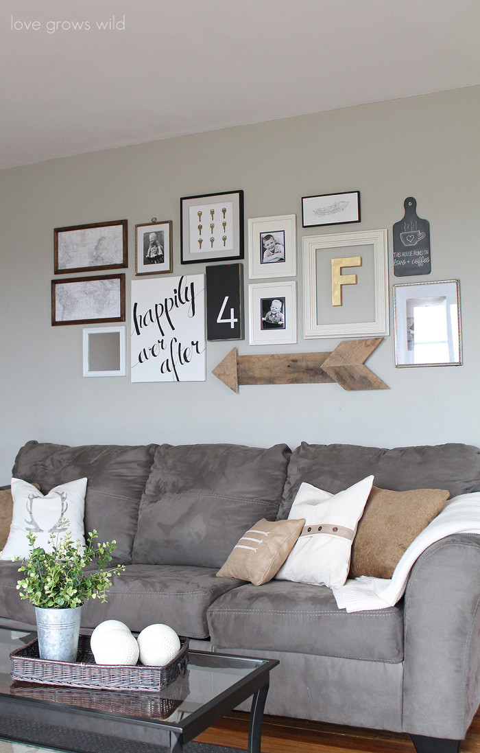 Best ideas about Living Room Wall . Save or Pin Living Room Gallery Wall Love Grows Wild Now.