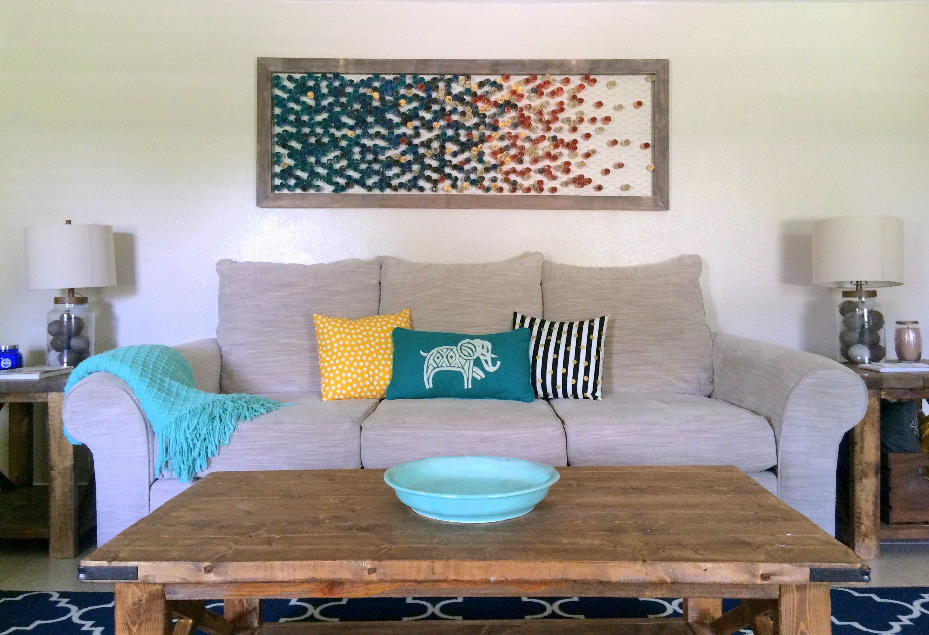 Best ideas about Living Room Wall . Save or Pin DIY Framed Paper Wall Art Within the Grove Now.