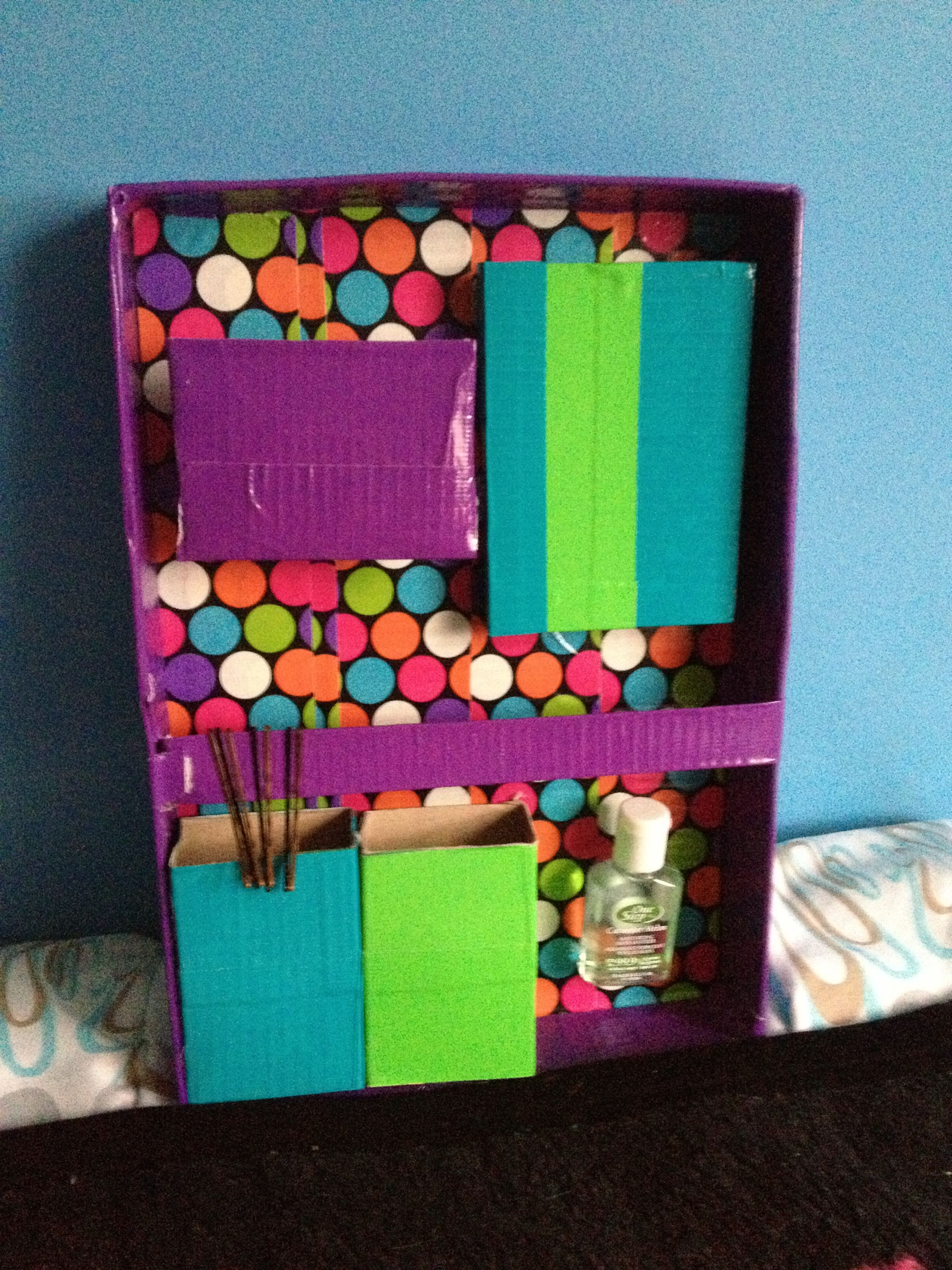 Best ideas about Locker Organizer DIY . Save or Pin Back to school locker organizer Use duct tape a shoe box Now.