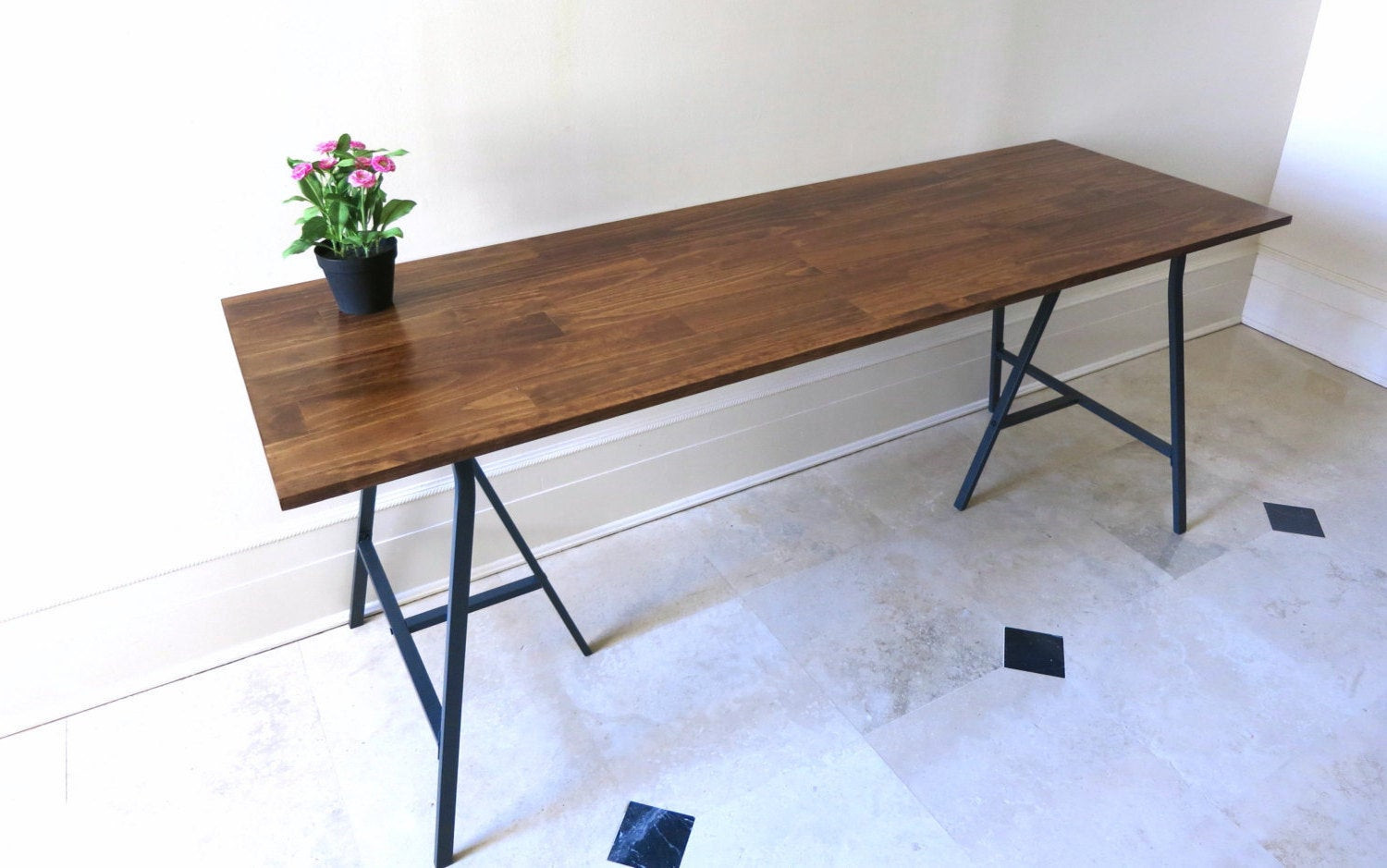 Best ideas about Long Narrow Dining Table . Save or Pin Long Desk or Narrow Dining Table Long Table by goldenrulenyc Now.