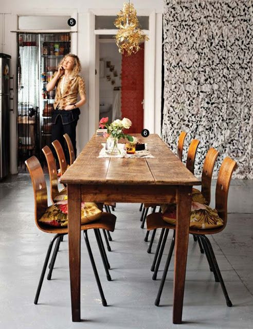 Best ideas about Long Narrow Dining Table . Save or Pin a long skinny dining table Vintage Farmhouse Now.
